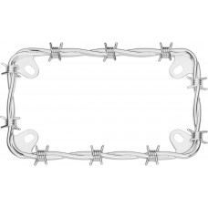 MC Barbed Wire Chrome License Plate Frame