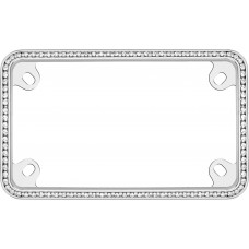 MC Diamondesque Chrome/ClearLicense Plate Frame
