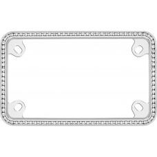 MC Diamondesque Chrome/ClearLicense Plate Frame
