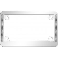 MC Neo Diamondesque Chrome/Clear License Plate Frame