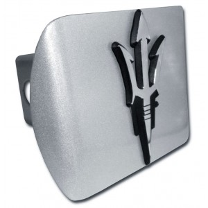 Arizona State Logo on Brushed Steel Hitch Cover