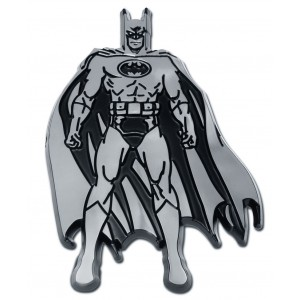 Batman Front Black and Chrome Batman Emblem
