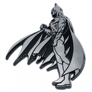 Batman Side Black and Chrome Batman Emblem