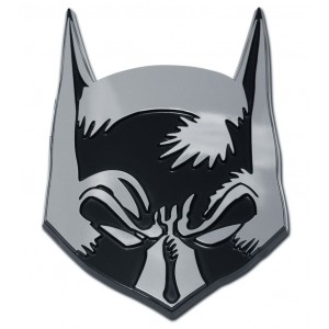 Batman Mask Black and Chrome Batman Emblem