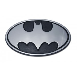 Batman Logo Black and Chrome Batman Emblem