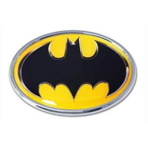 Batman Logo Color and Chrome Batman Emblem