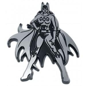 Batgirl Black and Chrome Batman Emblem
