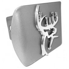 Buck Commander Logo Chrome on Brushed Steel Hitch Cover