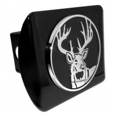 Buck Chrome on Black Hitch Cover