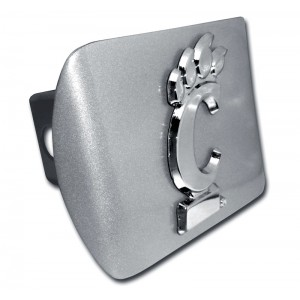 Cincinnati Logo Chrome on Brushed Steel Hitch Cover
