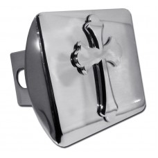 Ruffled Cross Chrome on Chrome Hitch Cover