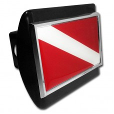 Dive Flag on Black Hitch Cover