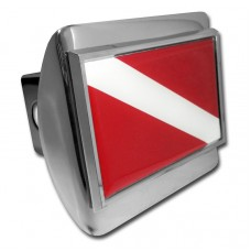 Dive Flag on Chrome Hitch Cover
