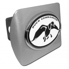 Duck Commander Oval Logo on Brushed Steel Hitch Cover
