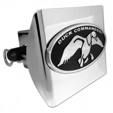 Plastic Duck Commander Oval Chrome on Chrome Hitch Cover