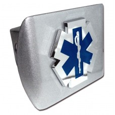 EMS Logo on Brushed Steel Hitch Cover