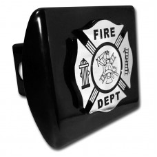 Fire Dept Logo on Black Hitch Cover
