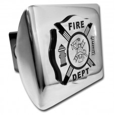 Fire Dept Logo on Chrome Hitch Cover