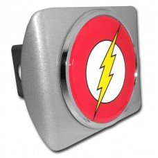 The Flash Logo on Brushed Steel Hitch Cover