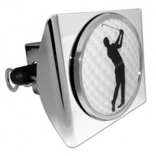 Plastic Golfer on Chrome Hitch Cover