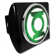 The Green Lantern Logo on Black Hitch Cover