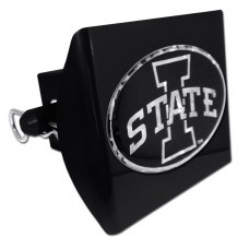 Plastic Iowa State Black Logo Bling on Black Hitch Cover