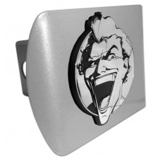 The Joker Chrome on Brushed Steel Hitch Cover
