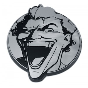Joker Black and Chrome Batman Emblem