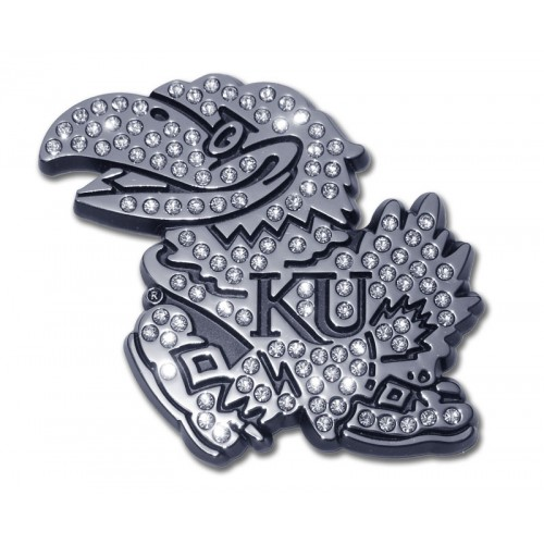 Kansas Crystal Bling and Chrome Emblem