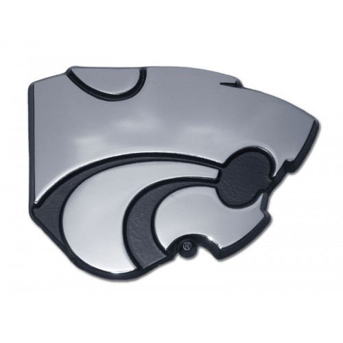 Kansas State Black and Chrome Emblem