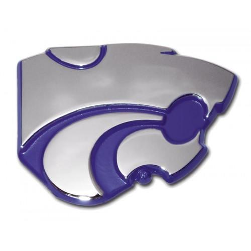 Kansas State Purple and Chrome Emblem