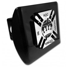 Knights Templar Logo Chrome on Black Hitch Cover