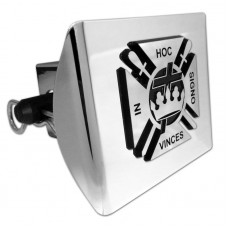 Plastic Knights Templar Logo Chrome on Chrome Hitch Cover