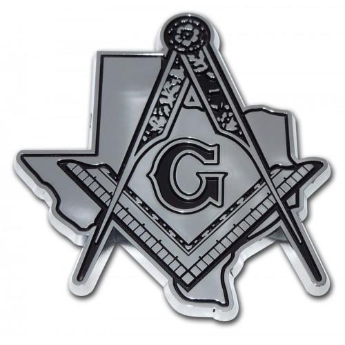 Mason Texas Cutout Chrome Emblem Masonic Car Emblems