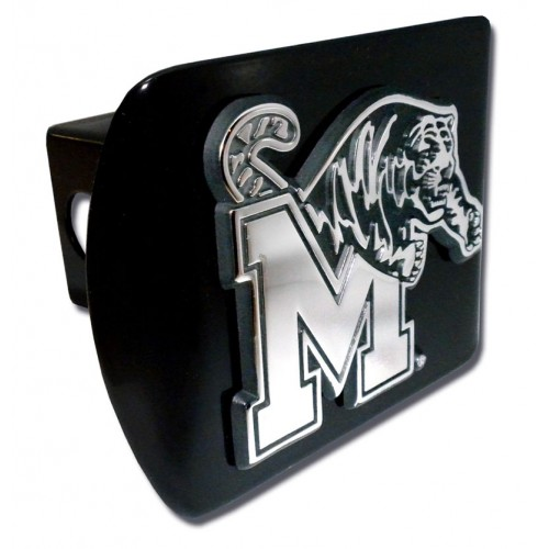 Memphis Logo Chrome on Black Hitch Cover