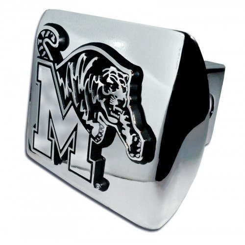Memphis Logo Chrome on Chrome Hitch Cover