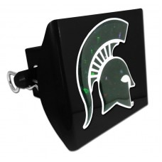 Plastic Michigan State Color Logo Bling on Black Hitch Cover