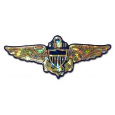 Navy Aviator Color Bling Emblem