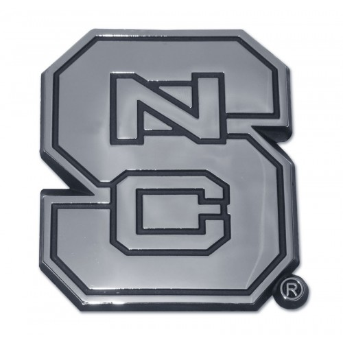 North Carolina State Black and Chrome Emblem
