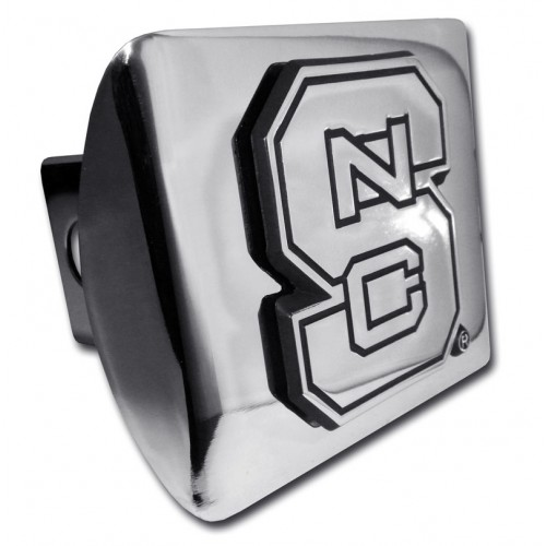 North Carolina State Logo Chrome on Chrome Hitch Cover