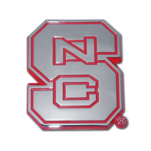 North Carolina State Red and Chrome Emblem