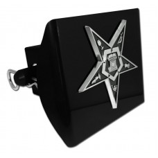 Plastic OES Symbol Chrome on Black Hitch Cover