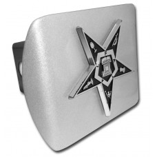OES Symbol Chrome on Brushed Steel Hitch Cover
