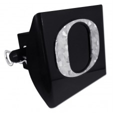 Plastic Oregon Silver Logo Bling on Black Hitch Cover