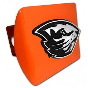 Oregon State Chrome on Orange Hitch Cover