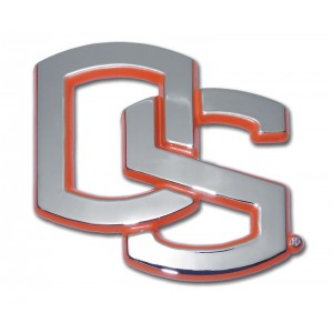 Oregon State Orange and Chrome Emblem