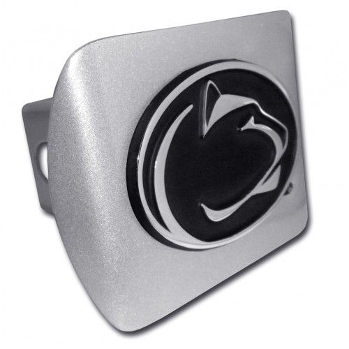 Penn State Chrome on Brushed Steel Hitch Cover