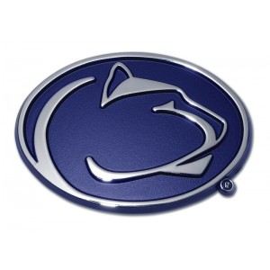 Penn State Blue and Chrome Emblem