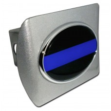 Police Logo on Brushed Steel Hitch Cover