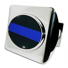Police Logo on Chrome Hitch Cover